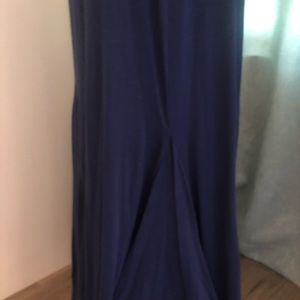 Navy maxi skirt bell shape